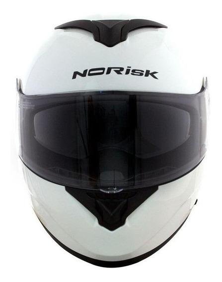 Capacete para moto escamoteável Norisk Force Monocolor white tamanho 62