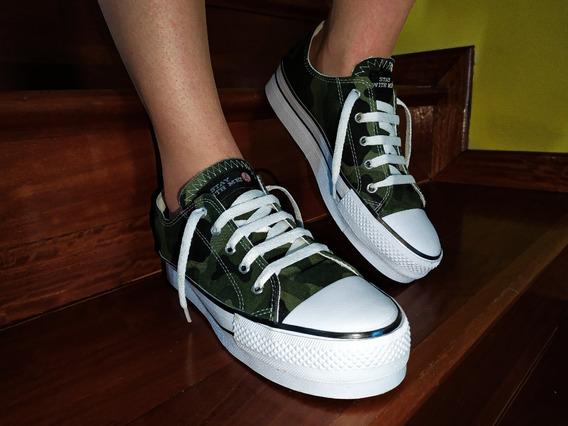 Zapatillas Stay With Me! Con Plataforma Camuflada