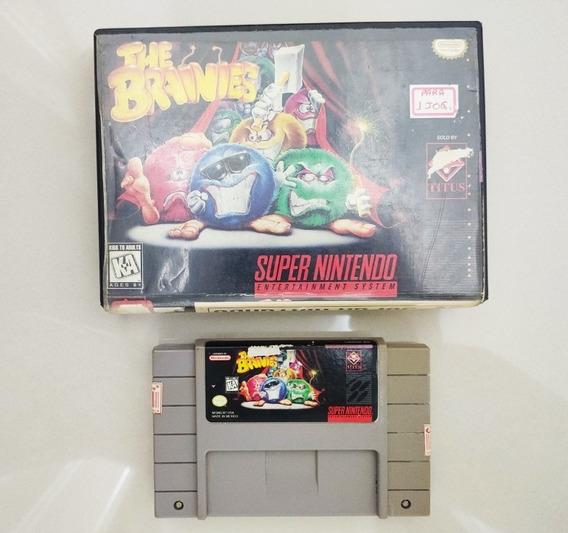 Fita Cartucho Jogo The Brainies Original Super Nintendo