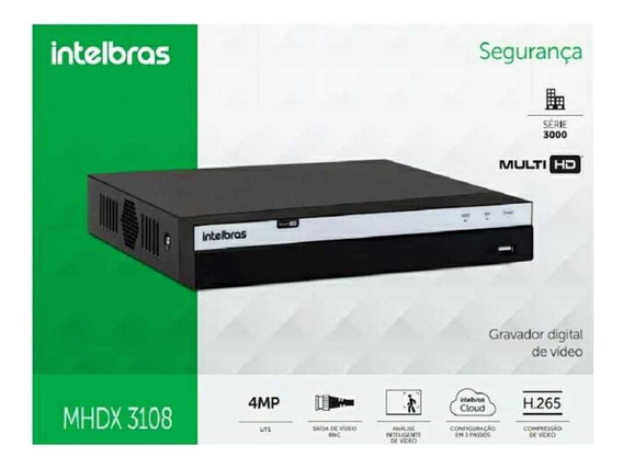 Dvr Intelbras Mhdx 3108 Full Hd 1080p Grav Dig 8 Canais