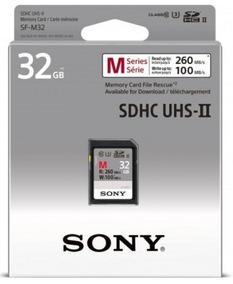 Cartão De Memoria Sd Sony Serie M 32gb-260mb/s Profissional