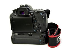 Canon 80d Corpo 6 Mil Clikes + Grip Meike