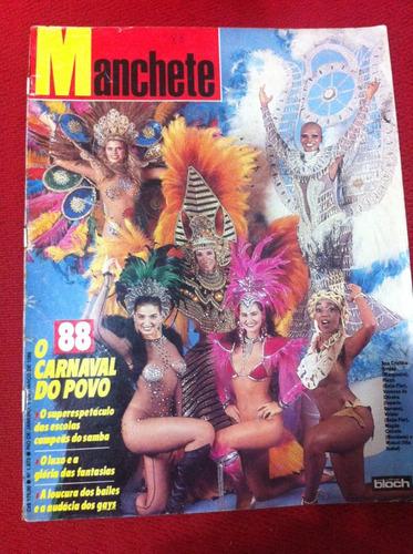 Manchete Carnaval 88 Adriana Esteves Magda Monique Marcella