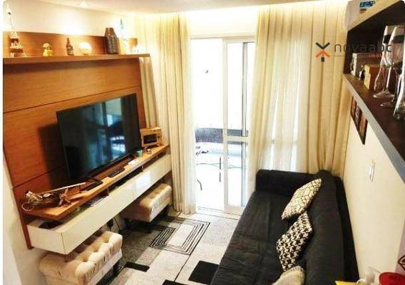 Apartamento Com 2 Dormitórios À Venda, 47 M² Por R$ 355.000,00 - Vila Valparaíso - Santo André/sp - Ap0895
