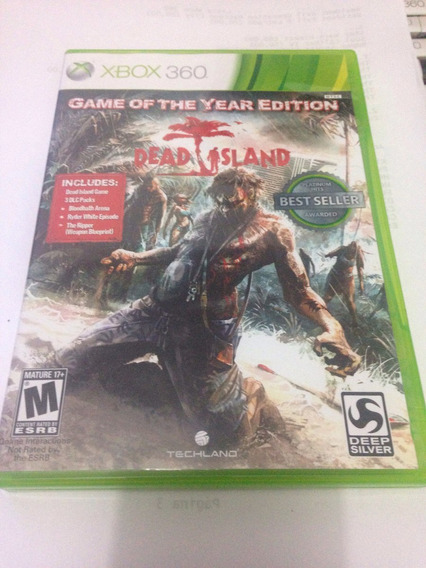 Dead Island Game Of The Year Edition Original Xbox 360