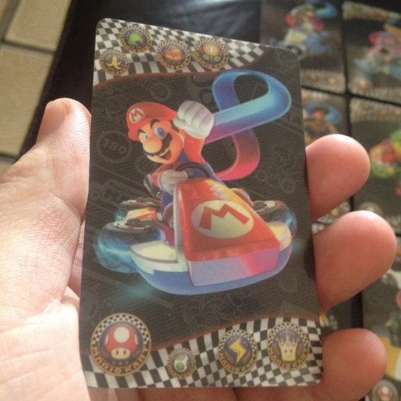Amiibo 20 Cards Mario Kart - Mario Maker - Melhor Qualidade