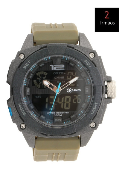 Relógio Masculino X-games Anadigi Borracha Xmppa260 Pxfx