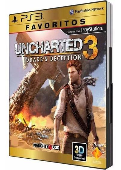 Uncharted 3 Em Português Para Ps3 ! Mídia Física!
