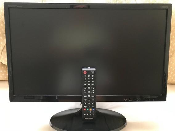 Tv Monitor Samsung 22 Função Futebol, Entrada Hdmi E Usb