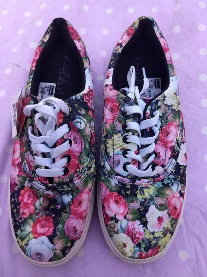 Tênis Floral Colorido - That´s It - Tamanho 39