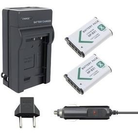 2 Baterias Carregador P/ Sony Action Cam Hdr-as300 Wi-fi Hd