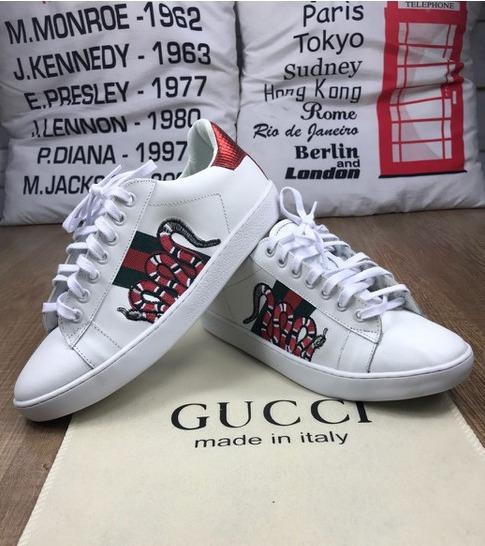 Tênis Gucci Feminino Branco Frete Grátis Envio Imediato