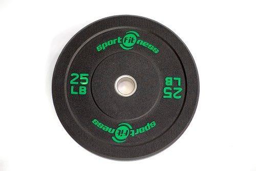 Imagen 1 de 3 de Disco Olímpico De 25lbrs En Caucho Gym Crossfit Sportfitness