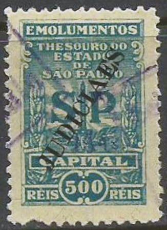 Judiciaes - Emolumentos - Capital - 500 Reis ------- 10021
