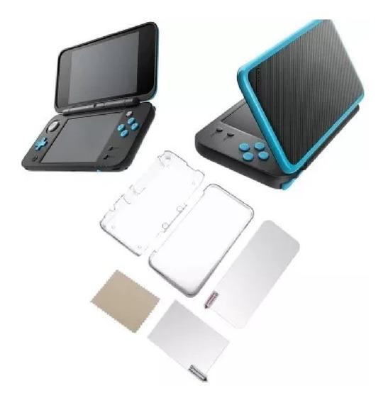 Case Capa Protetora + Película Tela Lcd Nintendo New 2ds Xl