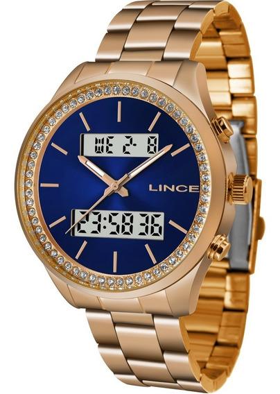 Relógio Lince Feminino Original Garantia Nota Lar4591ld1rx
