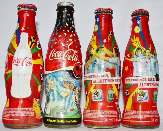 4 Botellas De Coca Cola Vacías Mundial Sudáfrica 2010