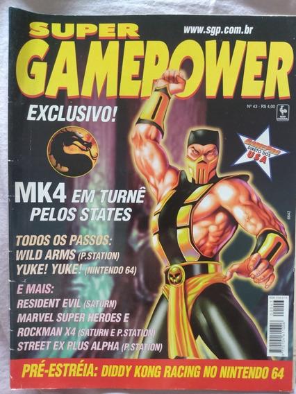 Revista Super Gamepower Nº 43 Mortal Kombat 4 Resident Evil