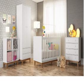 Quarto Para Bebê Com Guarda Roupa, Berço, Cômoda E Ce