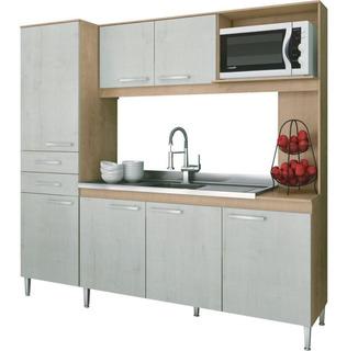 Cozinha Compacta Gralar Maravilha Mdp 7 Portas 2 Gavetas