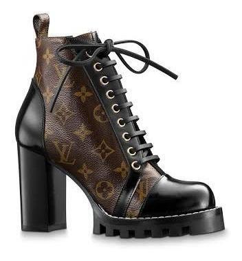 Bota Couro Monograma Louis Vuitton Ankle Boot Star Trail