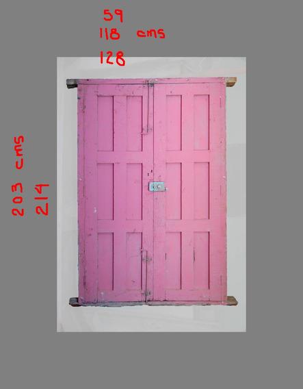 Puertas De Madera De Pino Firme, Antiguas