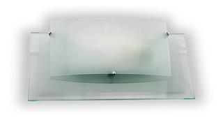 Lampara Aplique Difusor Doble Vidrio Apto Led Y Bajo Consumo