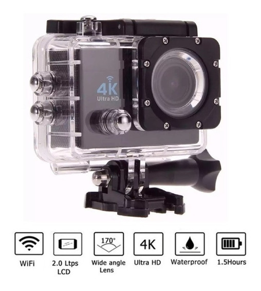 Camera Action Cam Go Sports 4k Pro Full Hd 1080p Wi-fi
