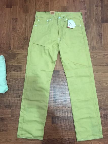 Pantalon Levis 501 Original Nuevo ,mostaza Talla 32x32