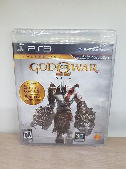 God Of War Saga Collection Ps3 Lacrado Midia Fisica Raro