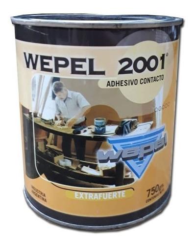 Adhesivo Doble Contacto Wepel 2001 750 Kg - 1 Litros Reforzado