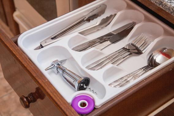 Cubiertero Organizador Para Cajon Cubiertos Cuchillo Tenedor
