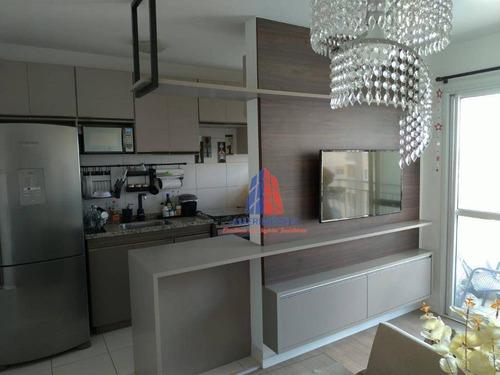 Imagem 1 de 30 de Apartamento Com 2 Dormitórios À Venda, 45 M² Por R$ 240.000,00 - Cariobinha - Americana/sp - Ap1525