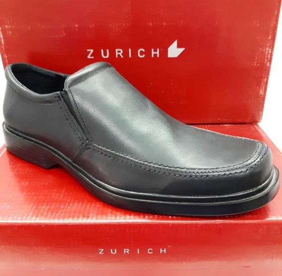 Zapatos Zurich Negro 9007 Vestir Hombre Cuero