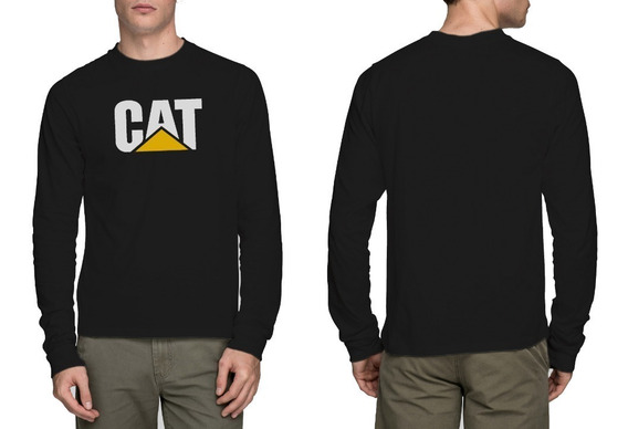 Camiseta Caterpillar Cat Manga Longa 100% Algodão