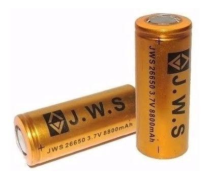 Carregador + Bateria 26650 3,7v 8800mah Jws Para X900