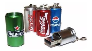 Memoria Usb 128gb Diseño Figura Lata Coca Pepsi Heineken