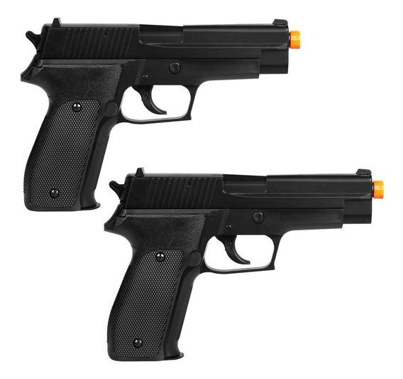 Kit 2 Pistolas Airsoft Spring P226 Sig Sauer 328fps 6mm