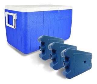 Caixa Térmica Coleman 48 Qt Grátis 3 Gelo Artificial Cliogel
