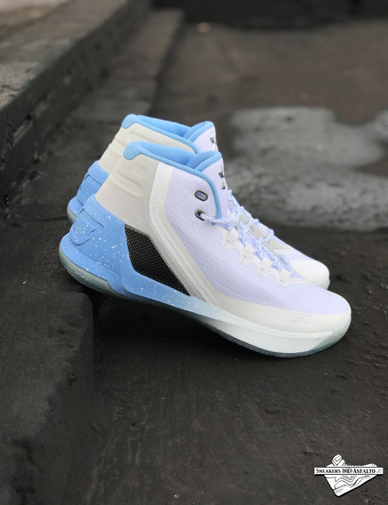 Tênis Under Armour Curry 3 Blue Aim A Pronta Entrega