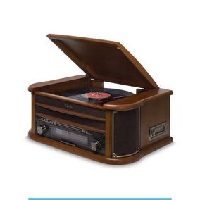Vitrola Raveo Rádio Cd K7 Usb Toca Discos Opera Bt