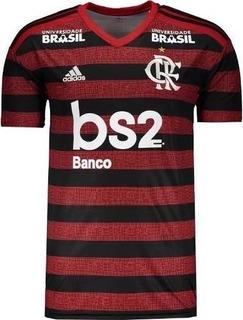 Camisa Flamengo 2019-2020 Home Com Patrocínio Pronta Entrega