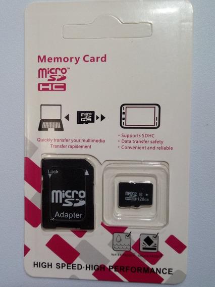 Cartão De Memória 128 Gb Classe 10 + Sd Adaptador