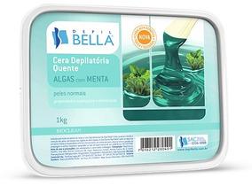 Cera Depilatória Quente Menta Com Algas 1kg Depil Bella