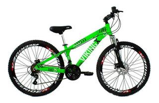 Bicicleta Tuff25 Freeride Aro 26 Verde Neon 21v Vikingx