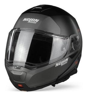 Casco Nolan N100-5 Plus Distinctive N-com Negro Matte / Gris