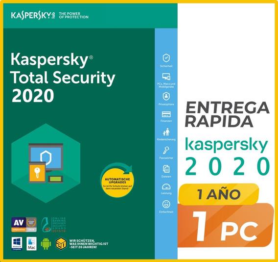 Kaspersky Total Security 1 Disp. 1 Año Licencia Original