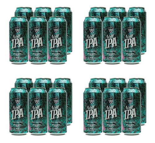Imagen 1 de 10 de Temple Wolf Ipa . Cerveza . 473ml X 24 - Tomate Algo® -