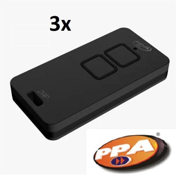 Kit 3 Controle Remoto Ppa Zap Rolling Code 433mhz Lançamento