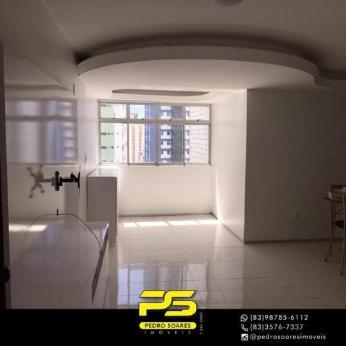 (oportunidade)  Apartamento Com 3 Dormitórios À Venda, 120 M² Por R$ 420.000 - Tambaú - João Pessoa/pb - Ap4660